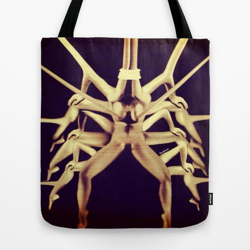 Unique wierd Art Tote/bag/Purse (nude). LET GO