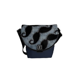 Jean Textured mini Rickshaw Messenger Bag