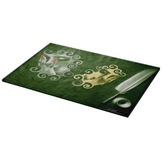 If These Walls Could Talk Glass Cutting Board