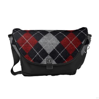 Plaid Rickshaw Medium Messenger Bag (him)