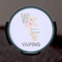 We Won't Stop VAPING (Art) LED Car Window Decal